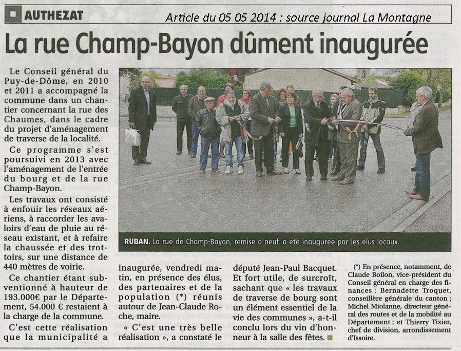 2014 05 02 Inauguration de la rue Champ-Bayon