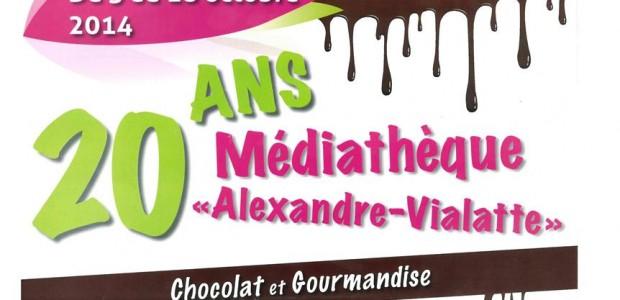 >>>Chocolat et gourmandise sont à l'affiche pour fêter les 20 ans de la médiathèque >>>Le guide de la médiathèque : services, services en ligne, horaires, modalités d'inscriptions, tarifs… Partagez