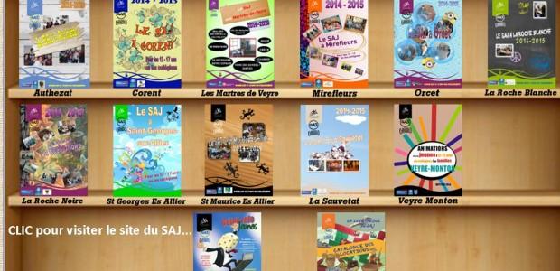 >>>>Accès portail SAJ http://www.sitesaj.ici.st/ >>>Accès page SAJ sur portail commune d'Authezat Le guide et la fiche d'inscription sont disponibles en mairie. Partagez