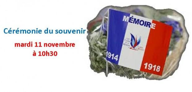 La cérémonie du 11 novembre, commémorant le 96è anniversaire de l'armistice de 1918 de la guerre, se tiendra : mardi 11 novembre à 10h30, dans la cour de la Mairie, en présence de la fanfare le Réveil Sauvetatois.  Partagez