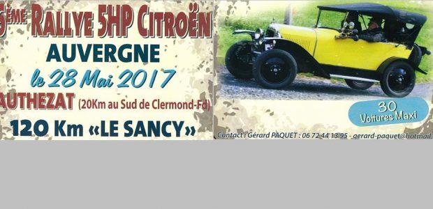 Bon nombre de concurrents participeront à cette 6ème édition.   Les véhicules seront visibles : Le matin de 7h à 8h30, avant le départ du rallye, dans la cour du château, chez Monsieur PAQUET Gérard, au n°3 de la rue Guyot-Dessaigne. En fin d'après-midi, à l'arrivée du rallye, à 17h30 dans la cour de la Mairie. Un vin [...]