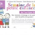 Du 7 au 9 juin, c'est la semaine de la petite enfance. Le relais Assistantes Maternelle de la communauté de communes Gergovie Val d'Allier Communauté propose des moments d'échange et de partage. >>>Voir l'affiche