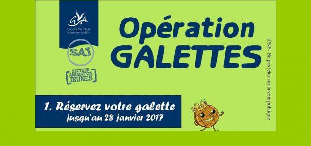 Dans le cadre d'un projet de jeunes pour partir en séjour, les jeunes du SAJ (Secteur Animation Jeunes) proposent une opération galette à Authezat tous le mois de janvier. >>>procédure de réservation d'une galette