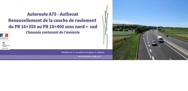 >>>Le dossier de presse explicatif >>>L'arrêté préfectoral n°2017-N-026 règlementant temporairement la circulation sur l'autoroute A75 dans le département du Puy-de-Dôme Partagez