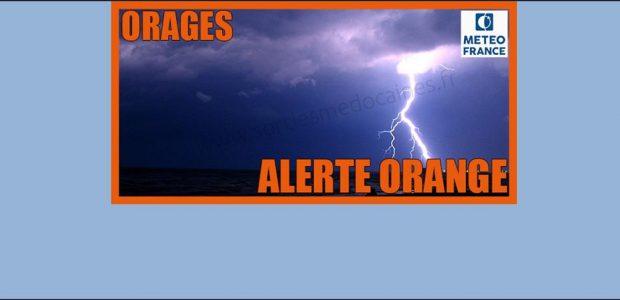 >>>Message d'alerte de la Préfecture du Puy-de-Dôme : vigilance météorologique orages de niveau orange Partagez