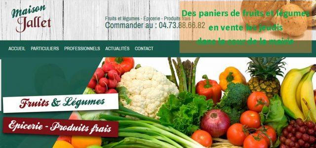 Des paniers de fruits et légumes seront proposés à la vente, cour de la mairie, de 16h à 18h, les jeudis. La SARL Jallet, tiendra à disposition des paniers au tarif de 20 euros,privilégiant producteurs locaux en fonction de la saison. http://www.jallet-primeurengros.com/ Le panier de la semaine : commander au 04.73.88.66.82 >>>Clic pour voir le contenu du [...]