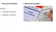 Un électeur peut donner procuration s'il ne peut se rendre au bureau de vote le jour de l'élection => https://www.service-public.fr/particuliers/vosdroits/F1604