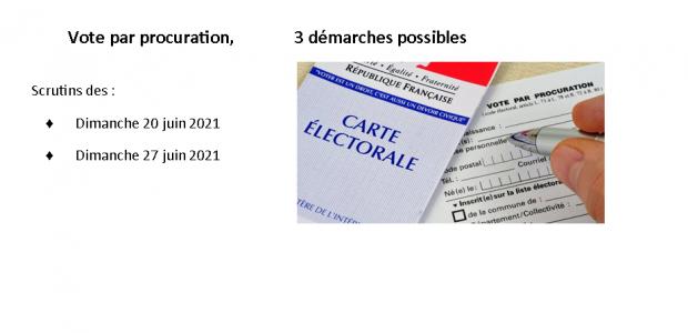 Un électeur peut donner procuration s'il ne peut se rendre au bureau de vote le jour de l'élection => https://www.service-public.fr/particuliers/vosdroits/F1604 Partagez