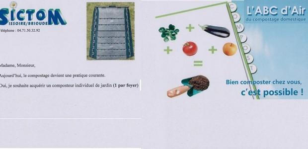 Pour commander un composteur auprès du SICTOM Issoire-Brioude : >>>Imprimer le bon de commande d'un composteur individuel >>>Pour aller plus loin, le guide du compostage domestique >>>Le portail du SICTOM Partagez