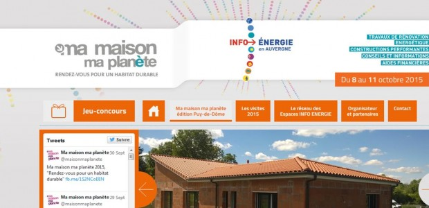 Ma maison ma planète, organisée en Auvergne par les Espaces INFO ENERGIE, membres du réseau «Rénovation info service», vous invite à participer à des animations sur l'habitat sain, les économies d'énergie et les énergies renouvelables. Cette manifestation, GRATUITE ET OUVERTE A TOUS, participe au programme national de la Fête de l'Energie initiée par l'ADEME. >>>Découvrez le programme APRES [...]