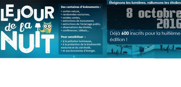 8ème édition du Jour de la Nuit – Samedi 8 octobre 2016 – Paris, le 04 octobre 2016 – Ce week-end se déroulera la 8ème du Jour de la Nuit, organisée en partenariat avec 25 organisations associatives et institutionnelles. Ce Samedi 8 octobre ce sont plus de 600 événements en faveur de la protection du ciel étoilé [...]