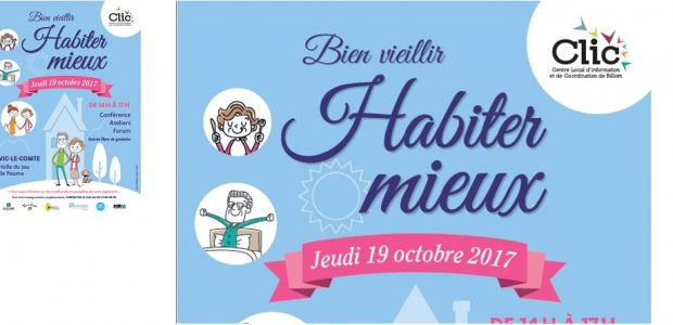 La prochaine édition du Bien Vieillir se tiendra jeudi 19 octobre à Vic-le-Comte >>>voir l'affiche Partagez