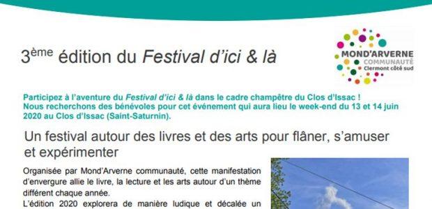 Mond'Arverne communauté => «Appel à bénévoles» => Festival d'Ici & Là 2020 Mond'Arverne communauté => Bouger, se divertir => culture => les rendez-vous en territoire  Partagez
