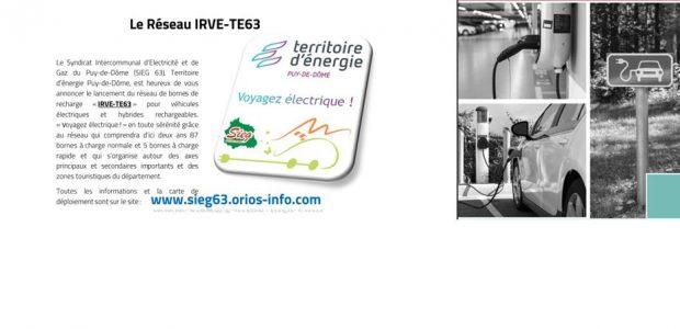 >>>mobilité électrique du réseau « IRVE-TE63 » Partagez