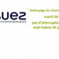Dans le cadre de la politique de suivi de la qualité de l'eau mise en distribution, les services de Suez Environnement procéderont, au lavage du réservoir d'eau du Bourg d'Authezat qui alimente la commune : mardi 08 décembre 2020. Cette opération ne devrait pas occasionner d'interruption de la distribution de l'eau potable, par contre, elle génèrera une [...]