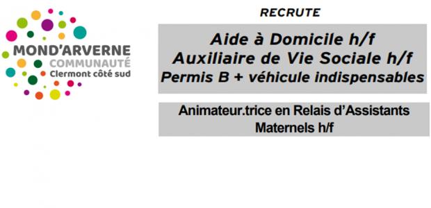 Annonce aide à Domicile été 21 Emploi animateur.trice RAM-1-1 Partagez