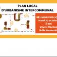 L'agenda :  Qu'est ce qu'un Plan Local d'Urbanisme Intercommunal (PLUi) ?  La réunion publique : Clic >>> pour plus d'infos