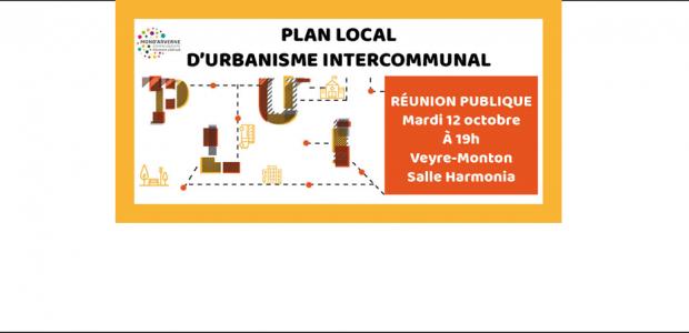 L'agenda :  Qu'est ce qu'un Plan Local d'Urbanisme Intercommunal (PLUi) ?  La réunion publique : Clic >>> pour plus d'infos Partagez